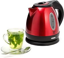 Electric Kettle Water Boiler Teapot Tea Maker Cordless Pot 1.2L Portable Red