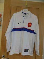 Mens NIKE Rugby top, size medium, white, blue stripe, Good condition
