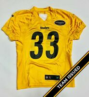 Pittsburgh Steelers Team Issued Nike Gold Practice Jerseys