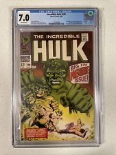 INCREDIBLE HULK #102 CGC 7.0 Marvel 1968 Premiere issue Origin Retold