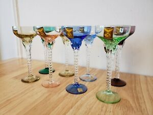 8 Blefeld & Co. Julia Cordial Liquor Glasses Cups Ref. Nr. 193 Made in Portugal