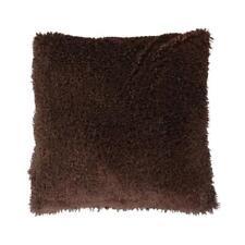 """18""""x18"""" Cushion Cover Soft Plush Fur Throw Pillowcase Home Sofa Decor Brown"""