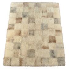 eco pelle di pecora Tappeto screziato BEIGE GRIGIO 200 x 160 Cm pelliccia