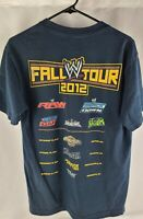 "WWE Wrestling Fall Tour 2012 official ""Crew"" Men's Medium  T-Shirt"