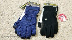 MOUNTAIN HARDWEAR Tempest SL / Windstopper Leather Fleece Backpacking Gloves XL.