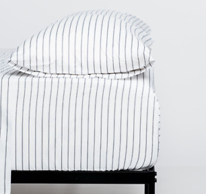 Cosy House Classic Pinstripe Striped Bed Sheet Set Soft Hypoallergenic Bedding