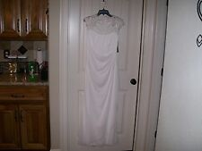 NEW! WOMEN'S XSCAPE WHITE WEDDING DRESS FROM DILLARDS SIZE 8 RETAIL $180
