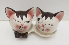 CAT* CERAMIC SALT AND PEPPER SHAKERS VERY CUTE   NEW  FREE POST