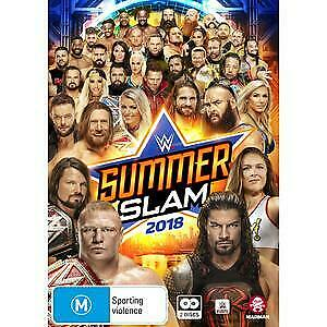 WWE - SummerSlam 2018 (DVD, 2018, 2-Disc Set) Brand new sealed!