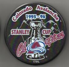 Colorado Avalanche 1996 NHL Stanley Cup Champions Hockey Puck + FREE Cube
