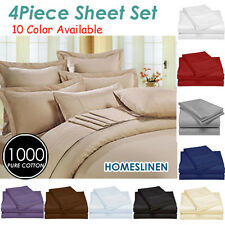 1000TC Egyptian Cotton Bedding Sheet Set King/Queen/Double/Single size