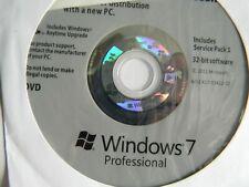 Windows 7 Pro Professional SP1 32-Bit DVD