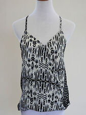 Lily White Black & Ivory Racer Back Top - AU 10-12 - BNWT