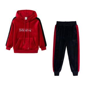 Girl Toddler Kids Sports Clothes Hoodie T-shirt Tops+Pants Outfits 2PCS Set UK
