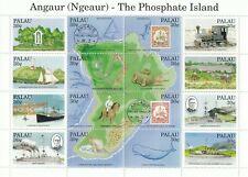 (11557) USA Palau Angaur Ngeaur Phosphate Island minisheet 1987