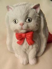 Nice Vintage 1991 San Francisco Music Box Adorable Kitty In Santa Hat - Euc
