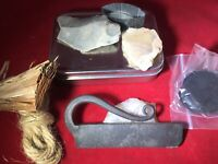 MOAB Flint and Steel Kit Survival Fire Starting Emergency SLED / MONKEY TAIL