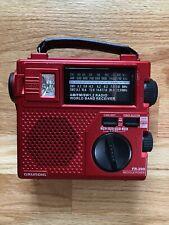 Grundig FR200 Emergency Radio AM/FM Shortwave - Red - With Carrying Case!
