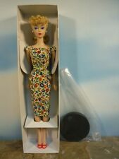 BARBIE REPRODUCTION DREAM HOUSE BLONDE PONYTAIL DOLL / FASHION & DOLL STAND