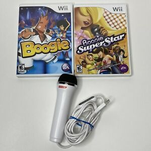 Boogie & Boogie Superstar 2 Singing Games & Microphone for Nintendo Wii Console