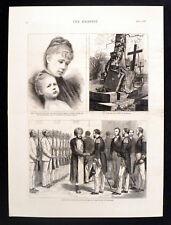 RECEPTION OF BRITISH NAVAL OFFICERS  SULTAN OF ZANZIBAR 1878 VICTORIAN ENGRAVING