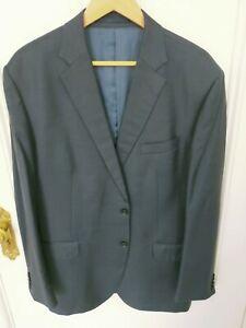 Men's Herringbone Blue Suit Jacket