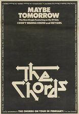 26/1/80PN33 Advert: The Chords New Single maybe Tomorrow & On Tour 10x7
