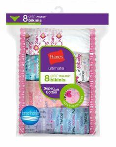 16 Hanes Ultimate® Girls' Cotton Bikinis GUBKP8