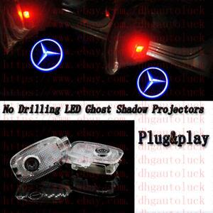 2pc For Mercedes Benz CL/S-Class Car LED Door Logo Courtesy Laser Lights kit