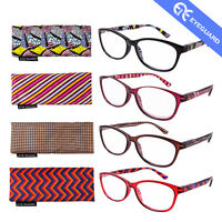 Reading Glasses Readers Stylish Colorful Bright Thin Elegant Women 4 Pairs /Pack
