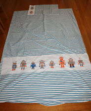 Whimsy Robots single bed doona cover set