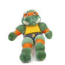 Vintage 1988 Teenage Mutant Ninja Turtles Michelangelo Plush Stuffed Animal TMNT