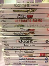 LOT 16 Wii Video Games Need For Speed, MLB, Guitar Hero, My Sims Etc