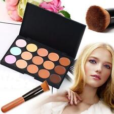 15 color Concealer and contour palette kit with brush face cream makeup  #1