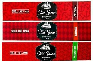 Old Spice Lather Shaving Cream Original / Musk / Lime- Pack Of 70gm-FreeShipping