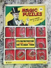 Vintage Magic Puzzles Secret Puzzle Sets Made In Japan Famus Brand