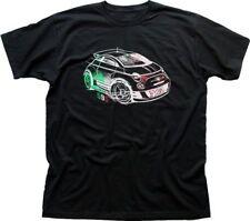 ABARTH AUTO RALLY LOGO FIAT Italia Black T-shirt 01334