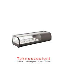 Vetrina refrigerata per sushi - illuminazione interna led - Vetro frontale curvo