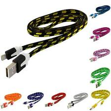 2X Noodle Rope Braided Sync USB Data Charger Cable Cord 3FT for iPhone 5S 5 5C