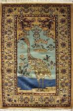 Rugstc 3x5 Pak Persian Gold  Rug, Hand-Knotted,Pictorial Hunting with Silk/Wool