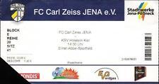 Ticket RL 2005/2006 FC Carl Zeiss Jena - KSV Holstein Kiel, 03.09.2005