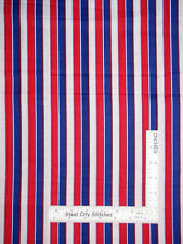 "Patriotic Stripe Red White Blue Cotton Fabric 29"" 22"" and 18"" (This is 3 pieces)"