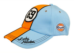 Gulf - Vintage Cap - Lucky Number 69 - Strapback - OSFM - Eisblau *