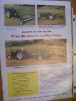 VINTAGE  OLIVER CORP ADVERTISING PAGE - 550 TRACTOR & HAY EQUIPMENT