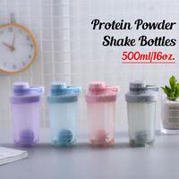 Protein Powder Shake Ball Bottle Sports Gym Mixer Shaker Drinking C