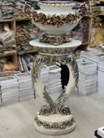VINTAGE VENETIAN Mirrored Table Vase Modern Flower Stand Bed Side Romany Mosaic