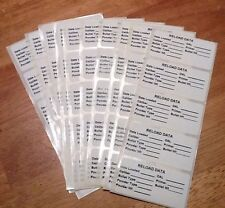 Reloading Data Labels - pack of 100 - Free Shipping