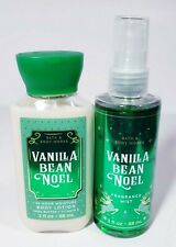 Bath & Body Works VANILLA BEAN NOEL Travel size Fragrance Mist Body Lotion Set
