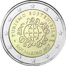 San Marino 2 Euro 2017 Jahr des Tourismus Stempelglanz im Folder
