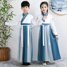 Chinese Traditional Children Hanfu Girl Boy Cosplay Joint Suit